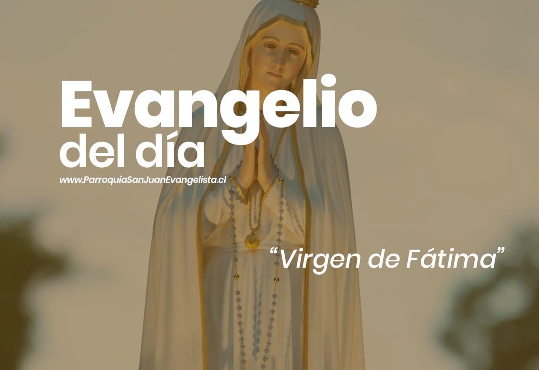 Evangelio del Día - Solemnidad Virgen de Fátima 13 de Mayo
